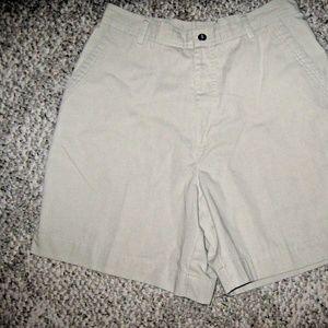 Studio Works Shorts - Light Tan 3 Pocket Cotton Blend Walking Shorts 10